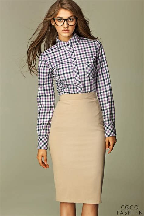 beige tea length pencil skirt
