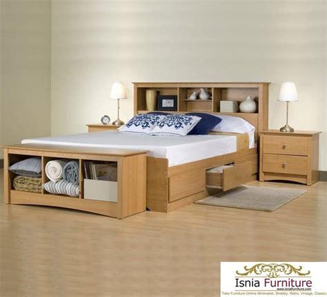 Tempat Tidur Kayu Laci tempat tidur laci furniture modern kayu jati harga murah