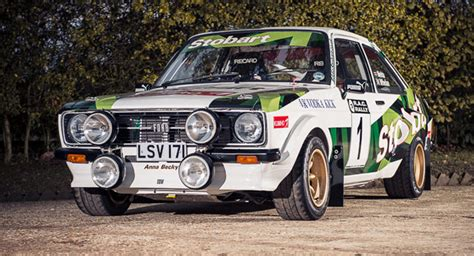 Up Family 110 Gr 1977 ford mk2 rally car that belonged to mcrae