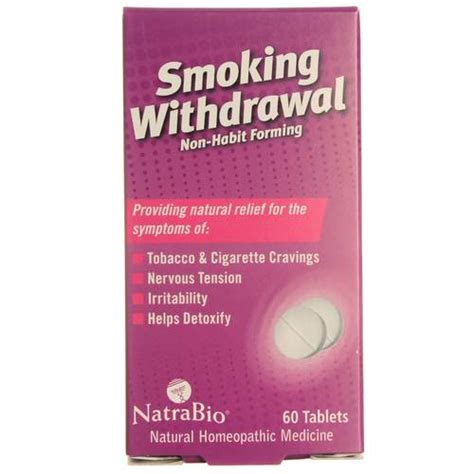 Supplements For Nicotine Detox by Natra Bio Withdrawal Unflavored 60 Tablets