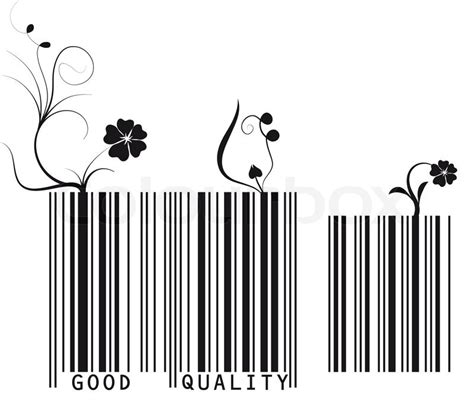 barcode tattoo that actually scans vector illustration of floral barcode good quality