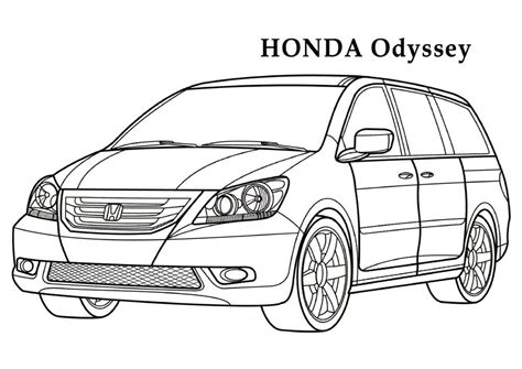 coloring pages honda cars honda odyssey cars coloring pages kids coloring pages