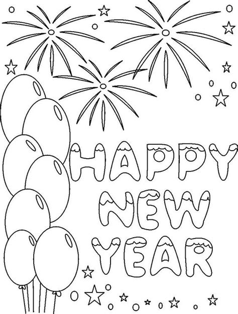new year picture to colour happy new year 2017 coloring pages coloring home