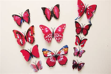 3d Butterfly Wall Sticker Stiker Dinding Kupu Kupu Yellow 12pcs 3d three dimensional butterfly wall stickers free shipping worldwide