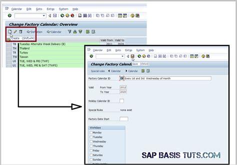 schedule a background in sap using factory calendar