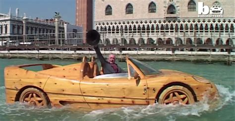 Six Car Garage ferrari f50 replica doubles as a wooden boat in venice