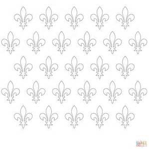 fleur de lis pattern coloring page free printable