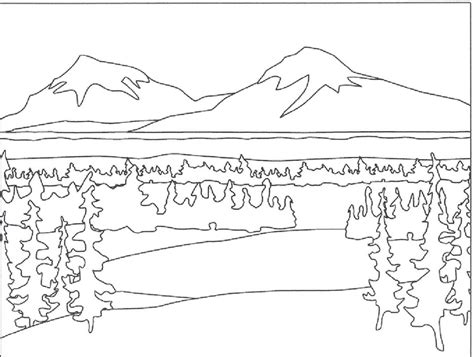 coloring pages winter landscape mountain landscape coloring pages my nursery class