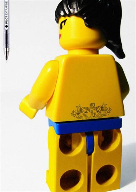 lego tattoo pilot pen pilot pen ads featuring amazing tattoos on lego mini