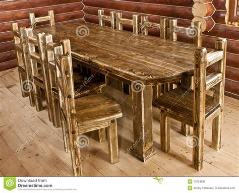 handmade large kitchen table stock image image 17034931