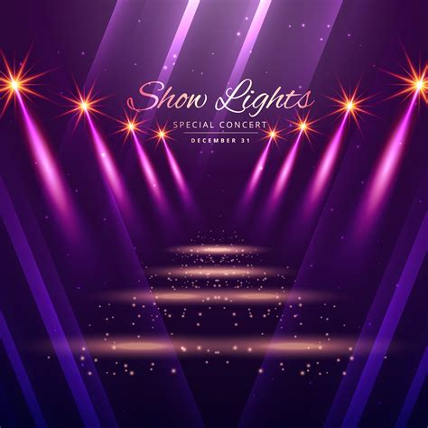 show background show lights enterance background free vector