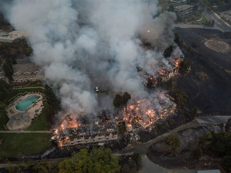California Fires Drive From Homes To Hotels by California Fires Live Updates Worst Wildfires In History