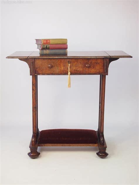 antique drop leaf side table burr walnut drop leaf side table or desk