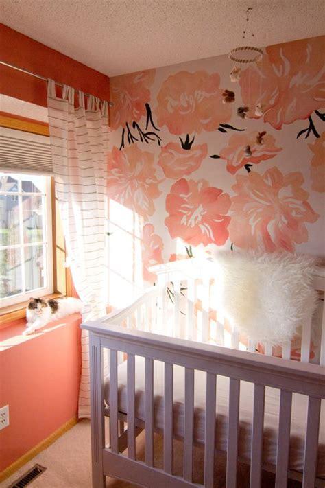 pink peonies nursery baby v s pink peony nursery flower murals and baby girl