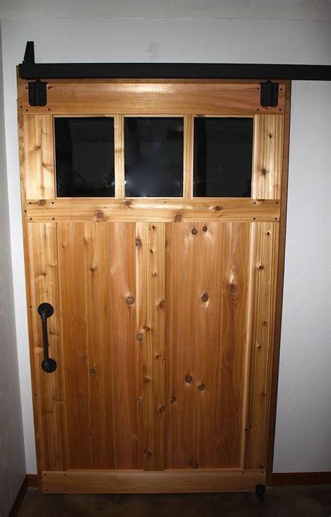 Hand Made Custom Cedar Sliding Barn Doors by Aaron Smith