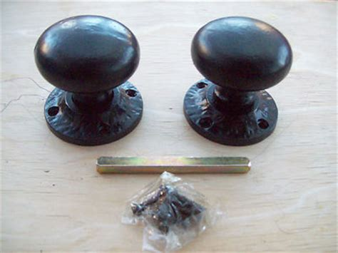 Black Antique Door Knobs by Heavy Duty Black Antique Cast Iron Mortice