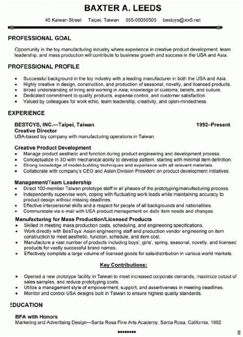 creative director resume sles 143 best resume sles images on resume
