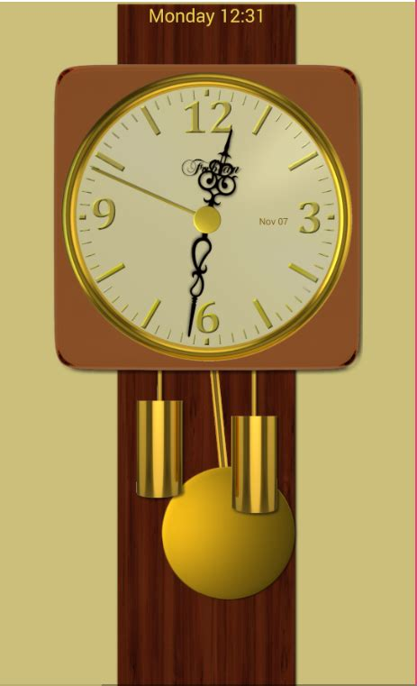 modern pendulum wall clock android apps on play