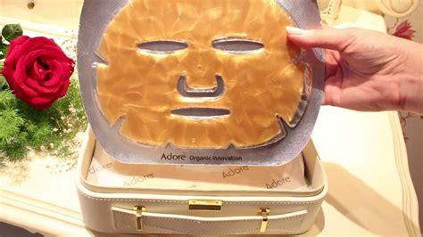 Masker Bubuk Emas Mask Gold 24k adore cosmetics review 24k gold mask