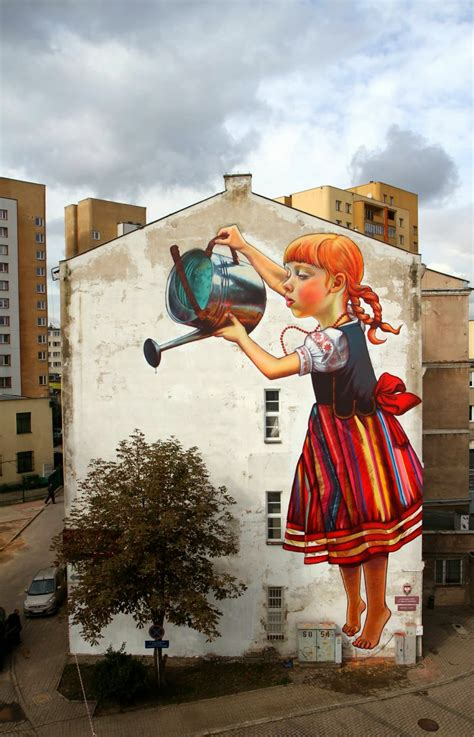 street art natalia rak new mural for folk on the street białystok
