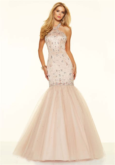 Pink Halter Satin Dress 221 00 pearl pink engaging halter satin fishtail prom