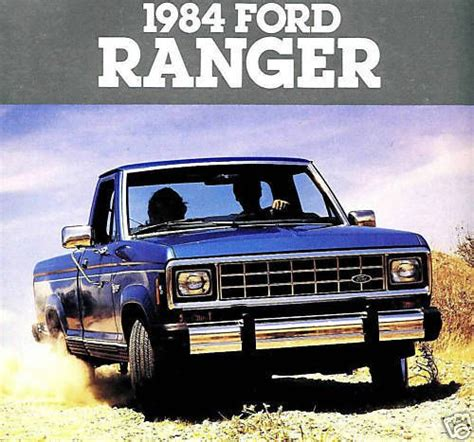 buy car manuals 1984 ford ranger spare parts catalogs sell 1984 ford ranger pickup factory brochure ranger xl ranger xlt ranger xls 4x motorcycle in