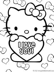 hello kitty i love you coloring pages hello kitty valentines coloring pages printable treats com
