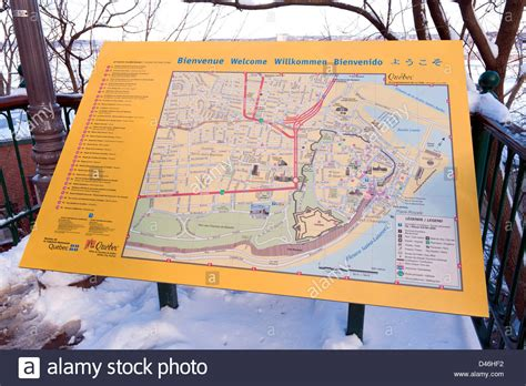 tourist map of canada tourist attraction board and map of city