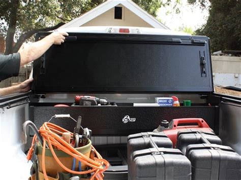 bakbox 2 tonneau tool box truck storage realtruck 1999 2016 f250 f350 super duty bakbox 2 under tonneau