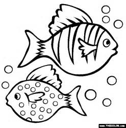 Two Fish Coloring Page Free Two Fish Online Coloring Free Fish Coloring Pages