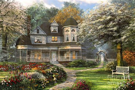 Beach Style Homes by Victorian Home Digital Art By Dominic Davison
