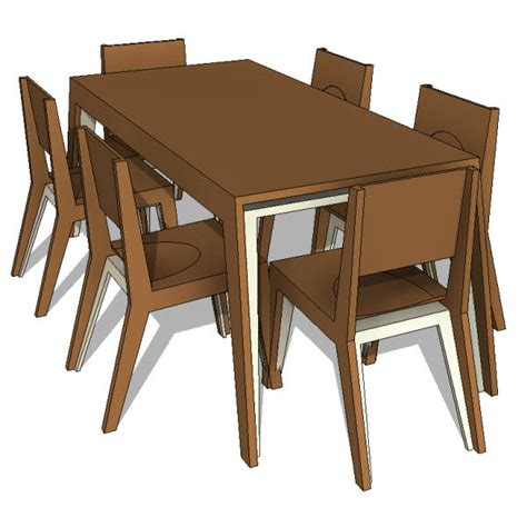 Dining Room Furniture Revit Dining Table Revit Dining Table Chairs