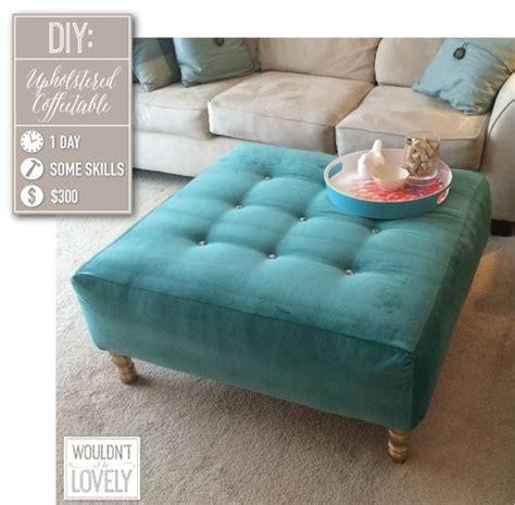 How To Make A Ottoman Diy Upholstered Ottoman Upholstered Ottoman Coffee Table Furniture And Ottomans
