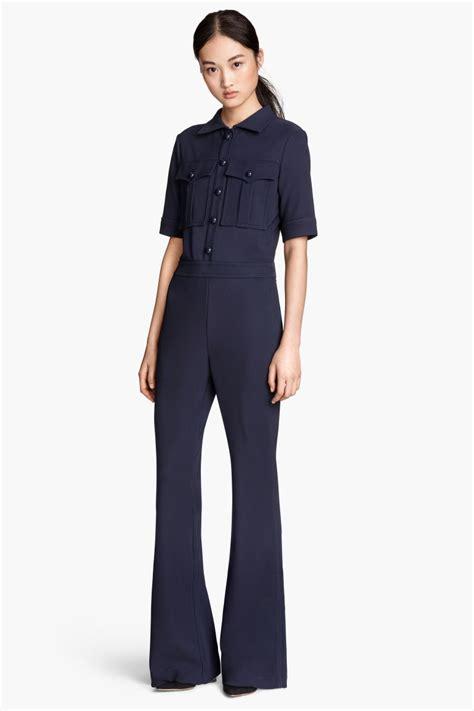 Hm Jumpsuit Ballo Fit L sleeved jumpsuit blue sale h m us