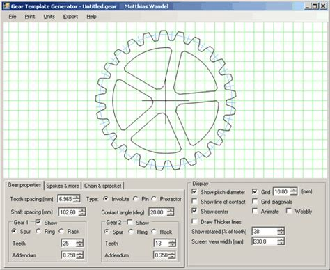 gear template generator version gear template generator program free