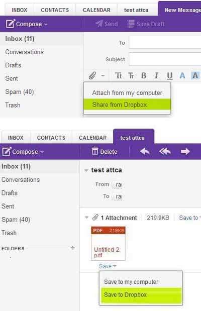 dropbox berbayar yahoo email bisa link ke layanan dropbox untuk file attachment
