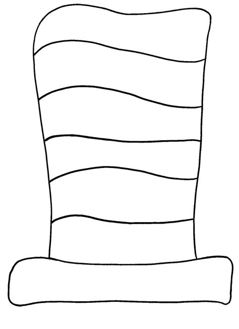 printable coloring pages cat in the hat best photos of free template of dr seuss cat in the hat