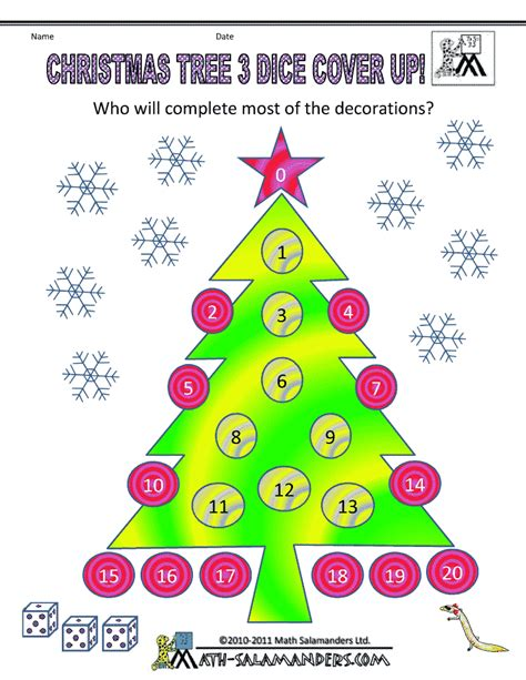 the christmas tree math problem math activities