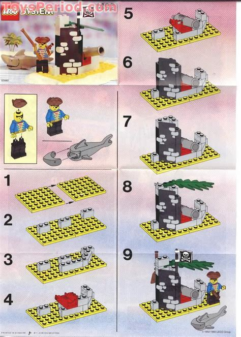 lego  battle cove set parts inventory  instructions