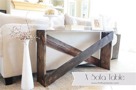 sofa table behind couch thrifty and chic diy projects and home decor