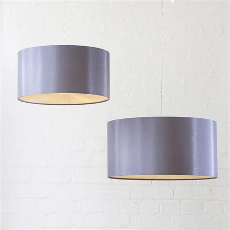 small grey l shades small ribbon easy to fit ceiling shade drum grey from