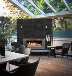 Outdoor Gas Fireplaces For Decks by Indoor Outdoor Flow With Escea Escea Fireplace