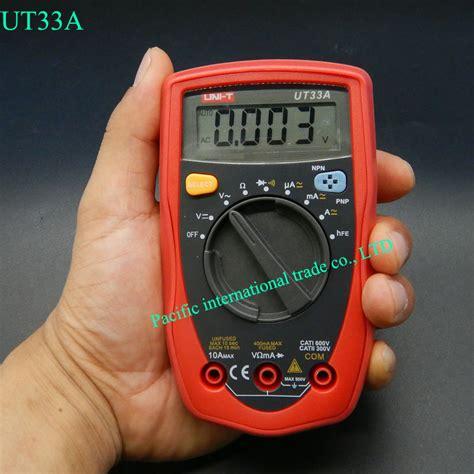 Multitester Digital Mini megohmmeter multimeter uni t ut33a mini palm size ammeter