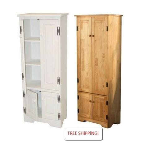pine kitchen pantry cabinet cabinet storage pantry extra tall white or pine