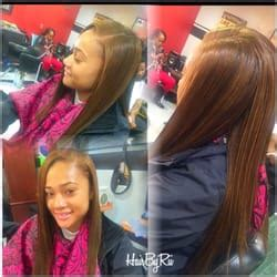 perfect smount of leave out for sew in weave hairbyrii mo stylez barbershop salon 22 photos