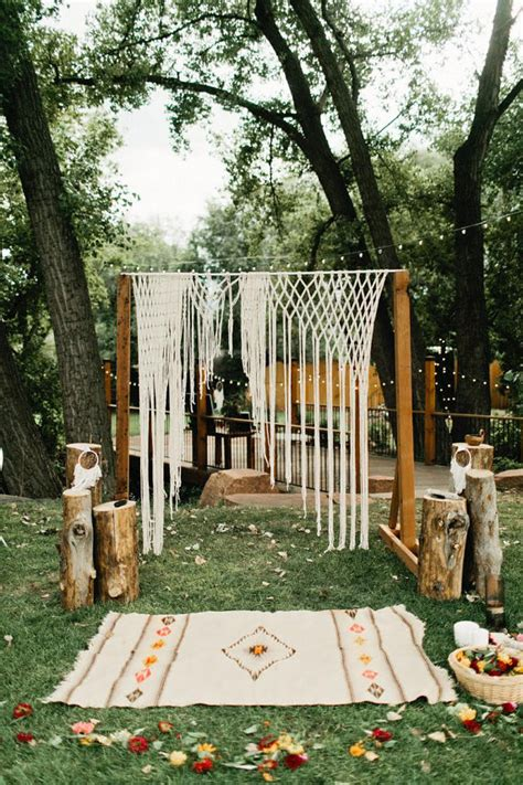 Wedding Arch Measurements by Boho Macrame Wedding Ceremony Altar Arch By Thehousephoenix