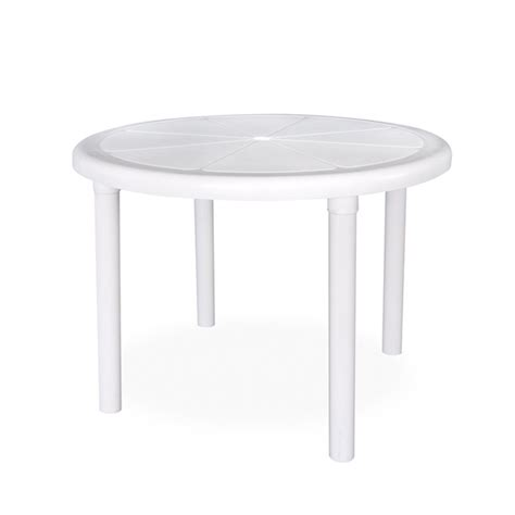 sorrento round plastic table