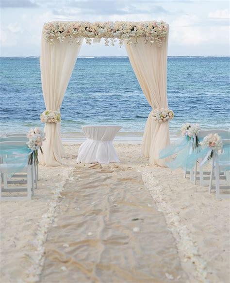 Elegant Caribbean Beach Wedding Arch by Weddings