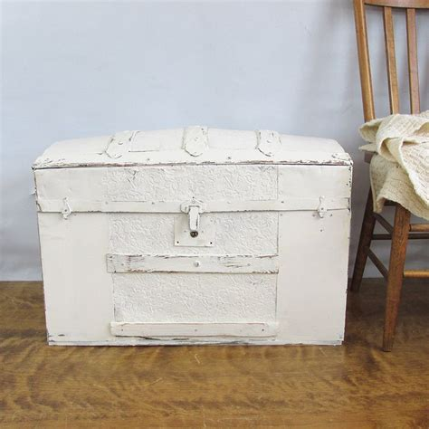Antique Distressed Camelback Trunk Humpback Trunk Shabby Chic Trunks
