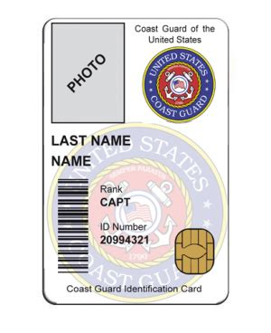 coast guard auxiliary business card template us id card